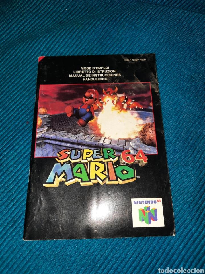 MANUAL SUPER MARIO 64 NINTENDO (Juguetes - Videojuegos y Consolas - Nintendo - Nintendo 64)