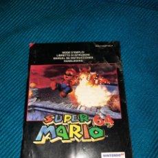Videojuegos y Consolas: MANUAL SUPER MARIO 64 NINTENDO. Lote 276053148