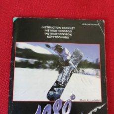 Videojuegos y Consolas: INSTRUCCIONES DEL JUEGO 1080 SNOWBOARDING DE NINTENDO 64. Lote 276249983
