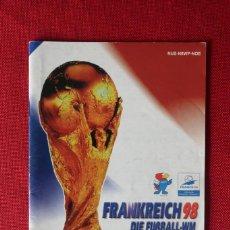 Videojuegos y Consolas: INSTRUCCIONES DEL JUEGO FRANKREICH 98 DIE FUSSBALL WM DE NINTENDO 64. Lote 276266488