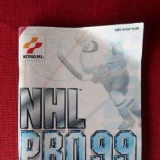 Videojuegos y Consolas: INSTRUCCIONES DEL JUEGO NHL PRO 99 DE NINTENDO 64. Lote 276267563