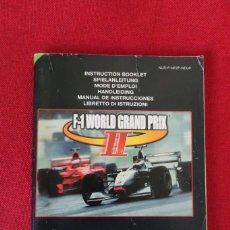 Videojuegos y Consolas: INSTRUCCIONES DEL JUEGO F1 WORLD GRAND PRIX II DE NINTENDO 64. Lote 276270743