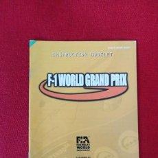 Videojuegos y Consolas: INSTRUCCIONES DEL JUEGO F-1 WORLD GRAN PRIX DE NINTENDO 64. Lote 276275258
