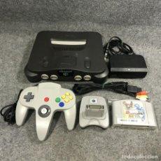 Videojuegos y Consolas: CONSOLA NINTENDO 64 JAP+POKEMON STADIUM 2+TRANSFER PAK+MANDO+AV+AC. Lote 279337538