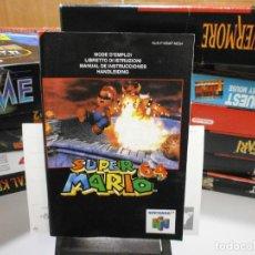 Videogiochi e Consoli: MANUAL JUEGO NINTENDO 64 SNES SUPER MARIO 64 ESP ESPAÑA. Lote 283659918