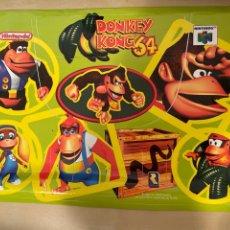 Videojuegos y Consolas: PEGATINA DONKEY KONG 64 - NUEVA A ESTRENAR - NINTENDO N64 - 1999. Lote 285121523