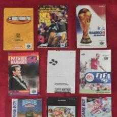 Jeux Vidéo et Consoles: INSTRUCCIONES DE GAME BOY, NINTENDO 64 Y FOLLETO EXTRANJERAS. Lote 285421748