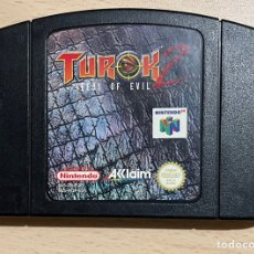 Videojuegos y Consolas: TUROK 2 - PAL ESP / EUR - 100% ORIGINAL - NINTENDO 64 - N64 - CARTUCHO EN BUEN ESTADO. Lote 287160493