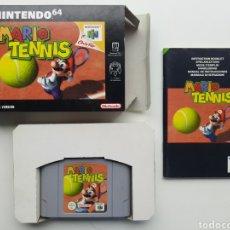 Videojuegos y Consolas: MARIO TENNIS COMPLETO NINTENDO 64. Lote 287408223