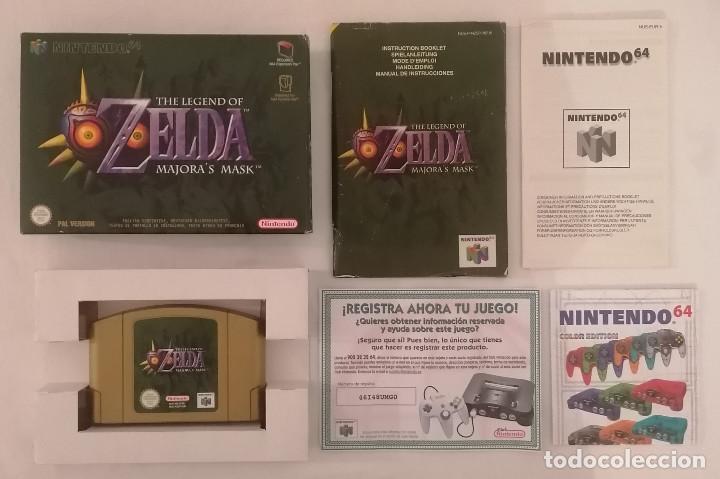 NINTENDO 64 THE LEGEND OF ZELDA MAJORAS MASK COMPLETO PAL ESPAÑA (Juguetes - Videojuegos y Consolas - Nintendo - Nintendo 64)