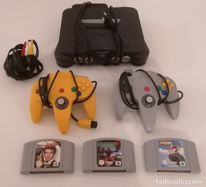 CONSOLA NINTENDO 64 + MANDOS + CABLES + JUEGOS PAL ESPAÑA (Juguetes - Videojuegos y Consolas - Nintendo - Nintendo 64)