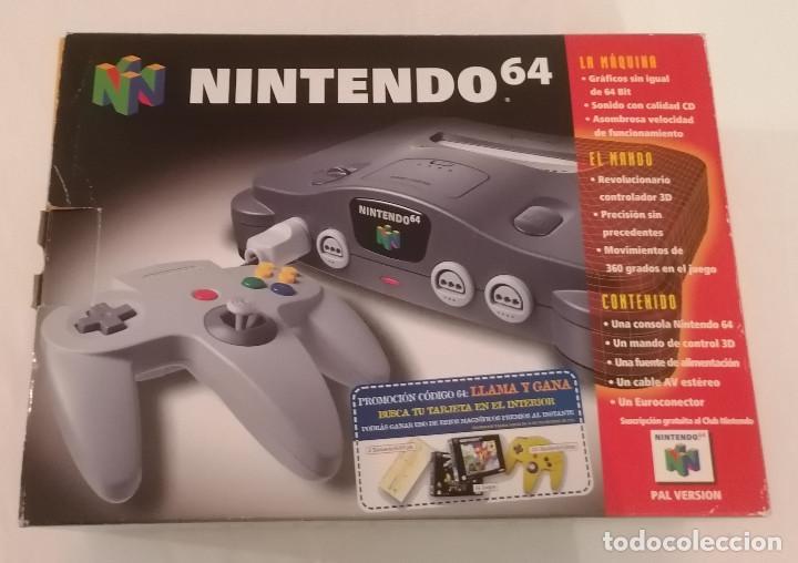 CONSOLA NINTENDO 64 EN CAJA PAL ESPAÑA ¡EN MUY BUEN ESTADO! (Juguetes - Videojuegos y Consolas - Nintendo - Nintendo 64)