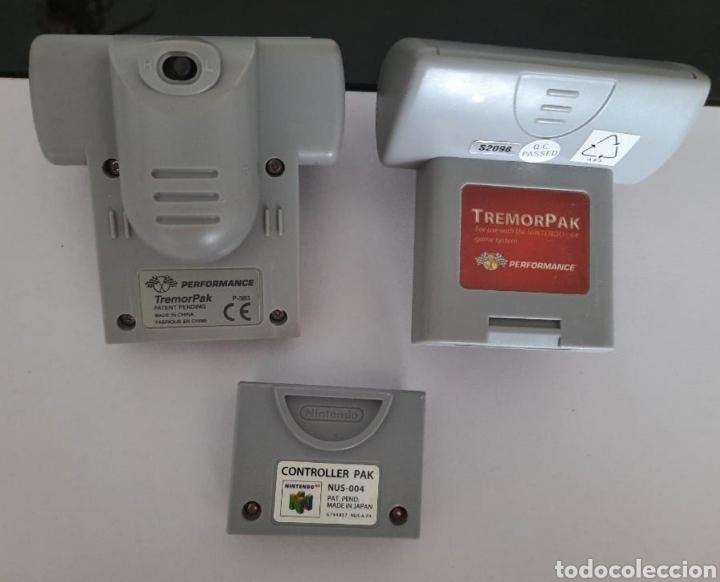 NINTENDO 64- 2 TREMOR PAK Y 1 CONTROLLER PAK (Juguetes - Videojuegos y Consolas - Nintendo - Nintendo 64)