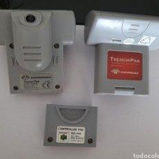 Videojuegos y Consolas: NINTENDO 64- 2 TREMOR PAK Y 1 CONTROLLER PAK. Lote 288856908