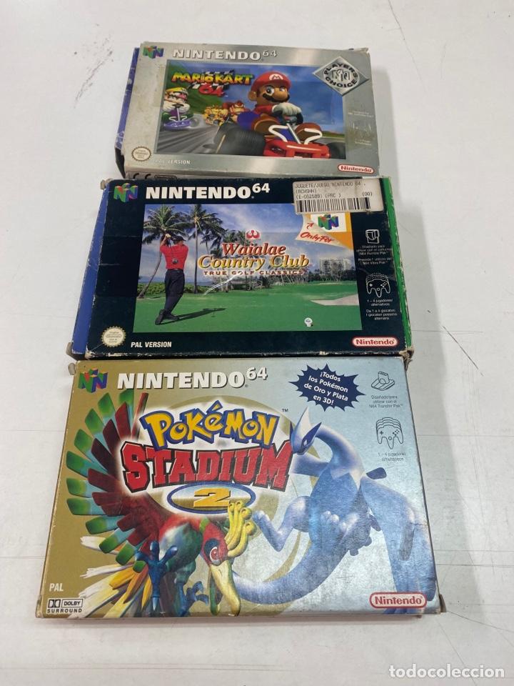 LOTE DE TRES CAJAS DE JUEGO VACÍAS NINTENDO 64 (Juguetes - Videojuegos y Consolas - Nintendo - Nintendo 64)