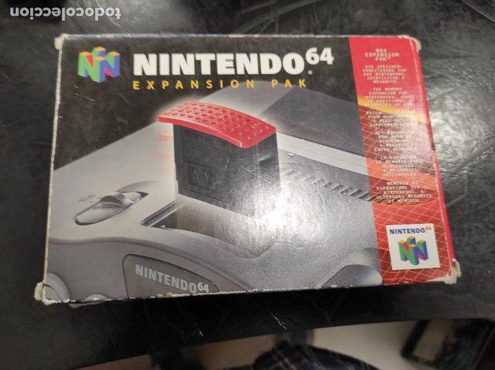 EXPANSION PAK N64 NINTENDO 64 COMPLETO ORIGINAL 100% (Juguetes - Videojuegos y Consolas - Nintendo - Nintendo 64)