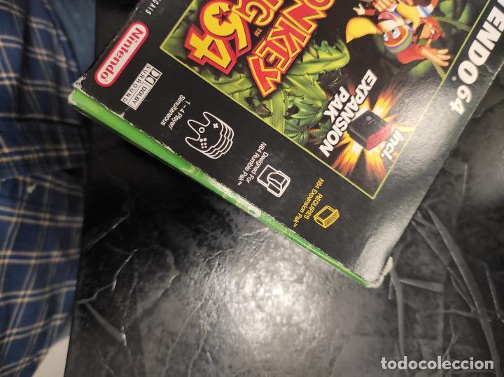 Videojuegos y Consolas: DONKEY KONG 64 NINTENDO 64 N64 PAL-ESPAÑA - Foto 8 - 289884758