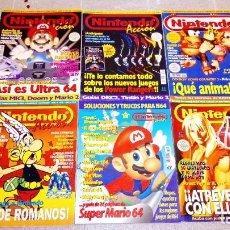 Videojuegos y Consolas: LOTE DE REVISTAS NINTENDO ACCIÓN 8,34,37,38,39 + GUÍA COMPLETA MARIO 64, TUROK, KART, GOLDENEYE.... Lote 292605918