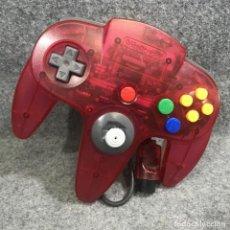 Videojuegos y Consolas: CONTROLLER CLEAR RED NINTENDO 64 N64. Lote 293683508