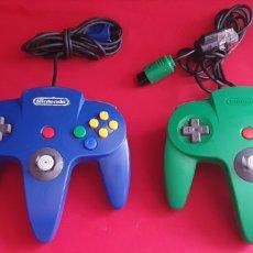 Videojuegos y Consolas: LOTE DE 2 MANDOS NINTENDO 64 SIN PROBAR. Lote 297049918