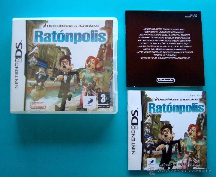 RATÓNPOLIS CAJA Y MANUAL DE INSTRUCCIONES ESPAÑOL NINTENDO DS ORIGINAL (Juguetes - Videojuegos y Consolas - Nintendo - DS)