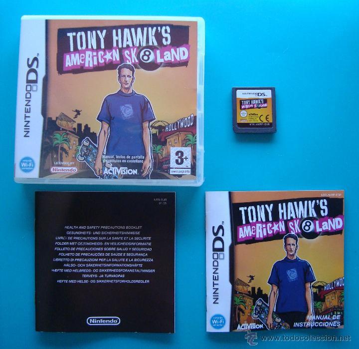 TONY HAWKS CAJA CARTUCHO Y MANUAL DE INSTRUCCIONES ESPAÑOL NINTENDO DS ORIGINAL (Juguetes - Videojuegos y Consolas - Nintendo - DS)