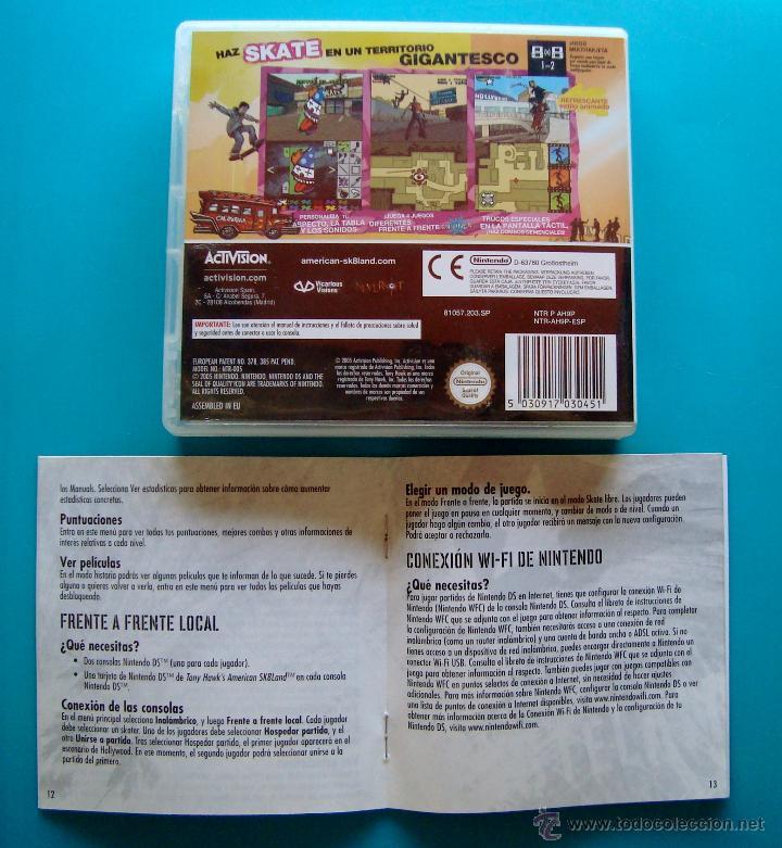 Videojuegos y Consolas: TONY HAWKS CAJA CARTUCHO Y MANUAL DE INSTRUCCIONES ESPAÑOL NINTENDO DS ORIGINAL - Foto 3 - 44219353