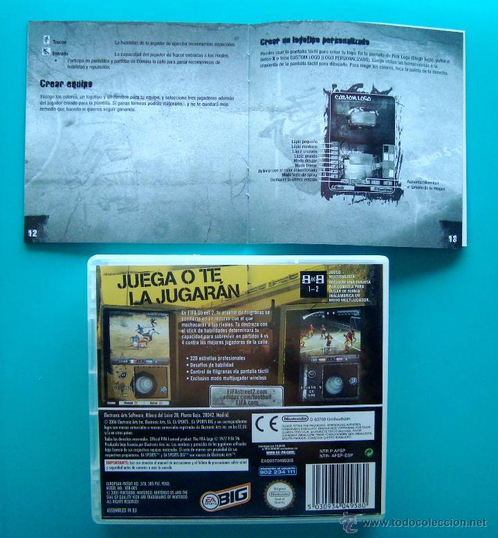 Videojuegos y Consolas: FIFA STREET 2 CAJA CARTUCHO Y MANUAL DE INSTRUCCIONES ESPAÑOL NINTENDO DS ORIGINAL - Foto 2 - 44219383