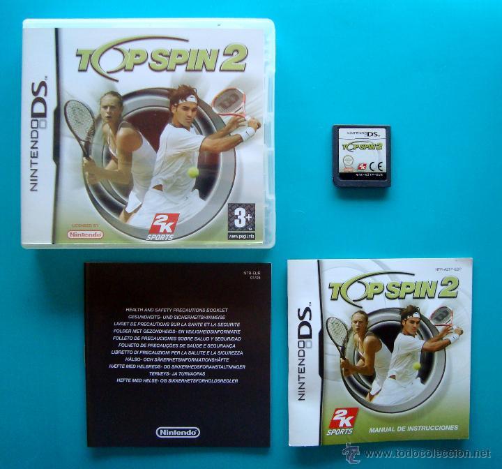 TOP SPIN 2 CAJA CARTUCHO Y MANUAL DE INSTRUCCIONES ESPAÑOL NINTENDO DS ORIGINAL (Juguetes - Videojuegos y Consolas - Nintendo - DS)