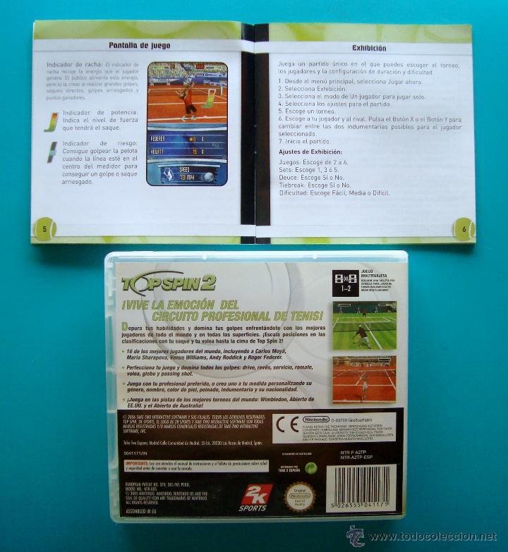Videojuegos y Consolas: TOP SPIN 2 CAJA CARTUCHO Y MANUAL DE INSTRUCCIONES ESPAÑOL NINTENDO DS ORIGINAL - Foto 2 - 44219411