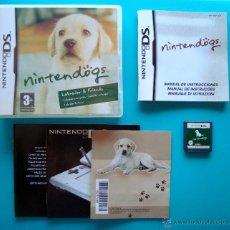 Videojuegos y Consolas: NINTENDOGS CAJA CARTUCHO Y MANUAL DE INSTRUCCIONES ESPAÑOL NINTENDO DS ORIGINAL. Lote 44219422