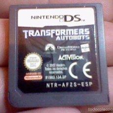 Videojuegos y Consolas: CARTUCHO NINTENDO DS PROBADO TRANSFORMERS AUTOBOTS NTR AFZS ESP. Lote 55933876