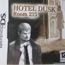 Videojuegos y Consolas: HOTEL DUSK. ROOM 215. NINTENDO DS. COMO NUEVA. NINTENDO DS.. Lote 57303030