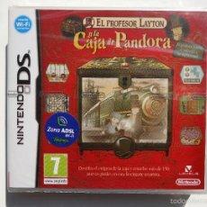 Videojuegos y Consolas: EL PROFESOR LAYTON Y LA CAJA DE PANDORA NINTENDO DS (PRECINTADO). Lote 109109116