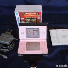 Videojuegos y Consolas: NINTENDO DS LITE + FUNDA + CARGADOR + MANUAL + PUBLICIDAD + 3 JUEGOS (COMO NUEVA, SIN GASTOS).. Lote 61534788