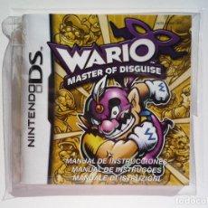 Videojuegos y Consolas: MANUAL WARIO MASTER OF DISGUISE NINTENDO DS (CASTELLANO). Lote 62455084