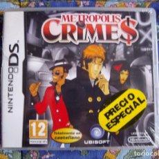 Videojuegos y Consolas: METROPOLIS CRIMES - NINTENDO DS - PRECINTADO - NUEVO. Lote 63374632