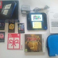 Videojuegos y Consolas: CONSOLA NINTENDO 2DS COMPLETA CON 2 JUEGOS,FUNDA Y TARJETA 4 GB.MARIO 3DS, ZELDA. Lote 64933655