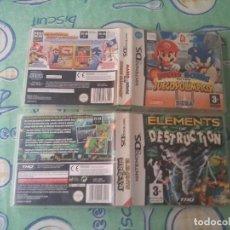 Videojuegos y Consolas: 2 CAJAS + INSTRUCCIONES JUEGOS DS ( OJO SIN JUEGO). Lote 84725684