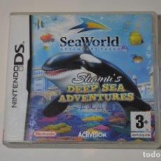 Videojuegos y Consolas: JUEGO NINTENDO DS SEAWORLD ADVENTURE PARKS SHAMU'S DEEP SEA ADVENTURES 2005 ACTIVISION PLATAFORMAS. Lote 91721185