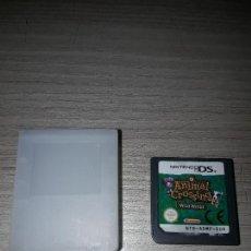 Videojuegos y Consolas: JUEGO NINTENDO DS 3DS CON CAJA PVC ANIMAL CROSSING WILD WORLD. Lote 94494302
