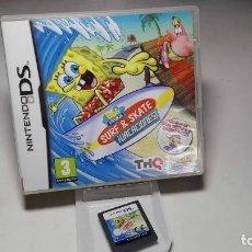 Videojuegos y Consolas: BOB ESPONJA - SURF & SKATE - VACACIONES! ( NINTENDO DS - 3DS) CJ 3. Lote 95672471