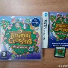 Videojuegos y Consolas: ANIMAL CROSSING WILD WORLD - NINTENDO DS NDS - PAL ESP COMPLETO. Lote 98152331