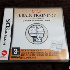 Videojuegos y Consolas: NINTENDO DS MÁS BRAIN TRAINING DEL DR. KAWASHIMA. ¿CUÁNTOS AÑOS TIENE TU CEREBRO?. Lote 102057396