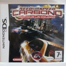 Videojuegos y Consolas: NEED FOR SPEED CARBONO - DOMINA LA CIUDAD - NINTENDO DS - EN CASTELLANO - COMPLETO CON MANUAL. Lote 102064563