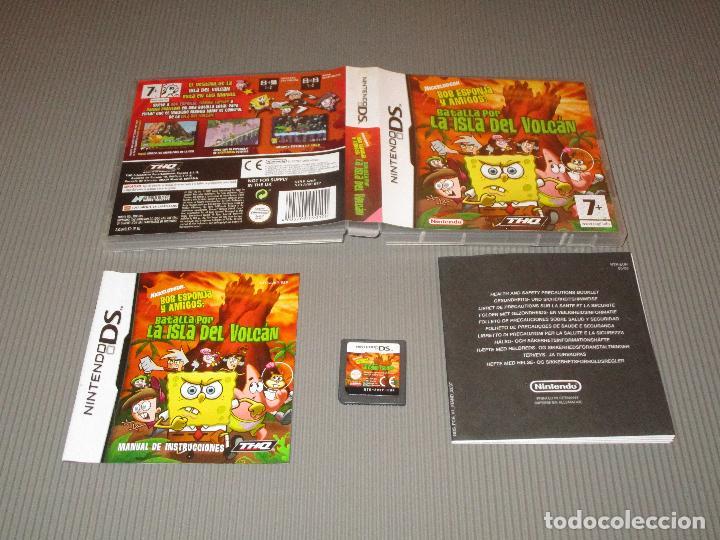 BOB ESPONJA Y AMIGOS ( BATALLA POR LA ISLA DEL VOLCAN ) - NINTENDO DS - TIMMY TURNER - DANNY PHANTOM (Juguetes - Videojuegos y Consolas - Nintendo - DS)