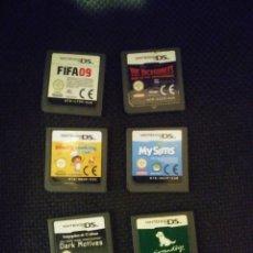 Videojuegos y Consolas: LOTE 6 JUEGOS NINTENDO DS SIN CAJA - VER DESCRIPCION. Lote 109173295