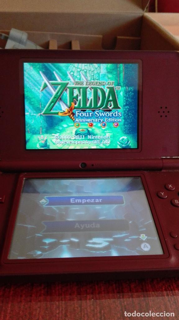 NINTENDO DSI DS I XL BURDEOS MAS JUEGO ZELDA INCLUIDO EN MEMORIA CON CAJA (Juguetes - Videojuegos y Consolas - Nintendo - DS)