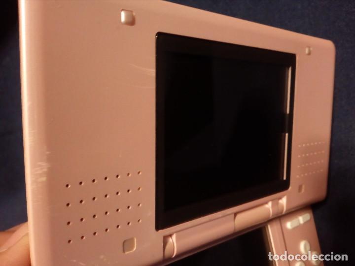 Videojuegos y Consolas: Videoconsola Portatil, Nintendo DS mod NTR-001, rosa perlado.Funciona.3 cartuchos juegos y tarjeta. - Foto 3 - 115455435