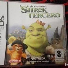Videojuegos y Consolas: CAJA E INTRUCCIONES DE NINTENDO DS SHREK TERCERO. Lote 117347151